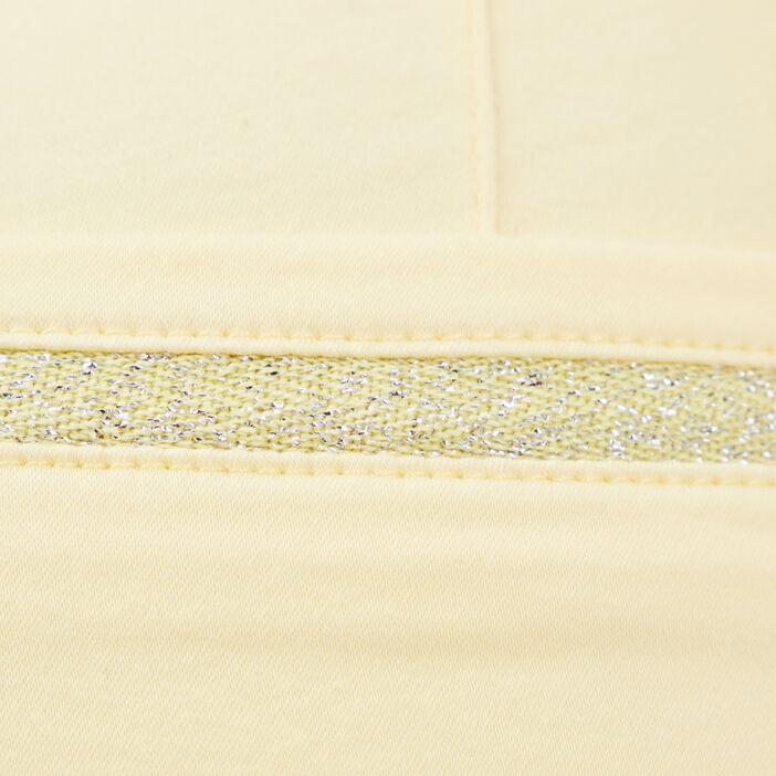 Pantalon ajusté 7/8ème jaune fluo femme
