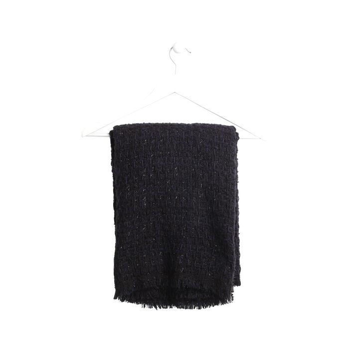 Écharpe en maille fils métallisés noir femme