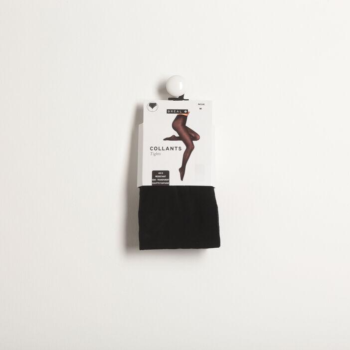 Collants semi-transparents 40D noir femme