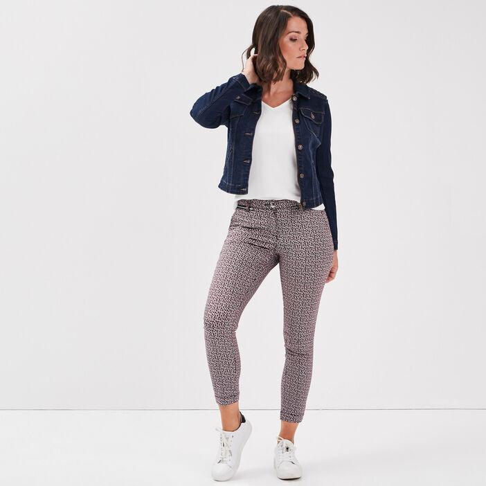 Veste droite en jean denim brut femme