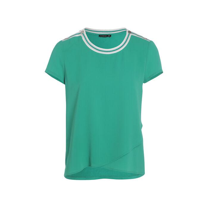 Tee-shirt manches courtes vert menthe femme