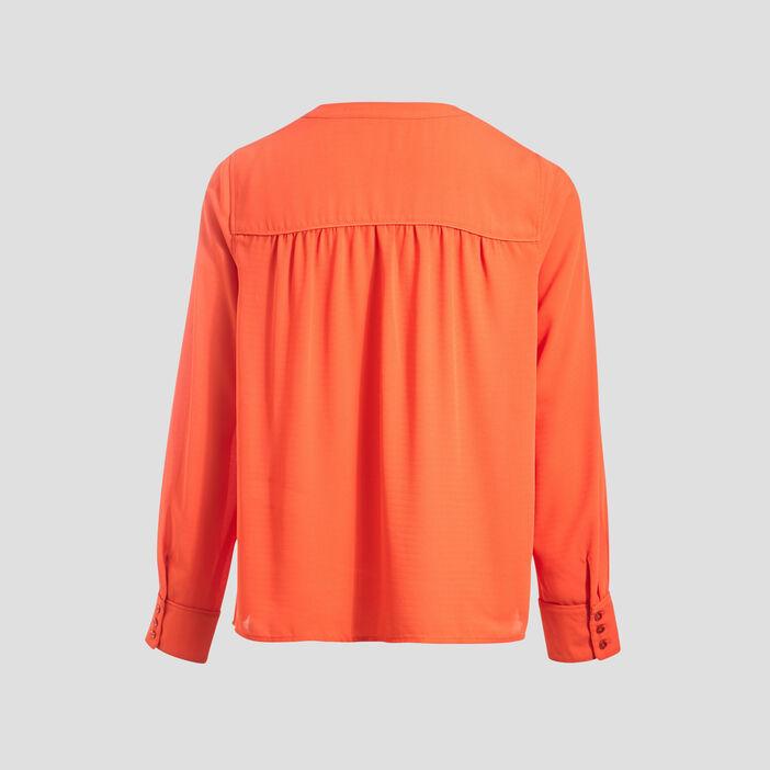 Chemise manches longues orange femme