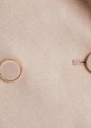 Trench droit boutonne beige femme
