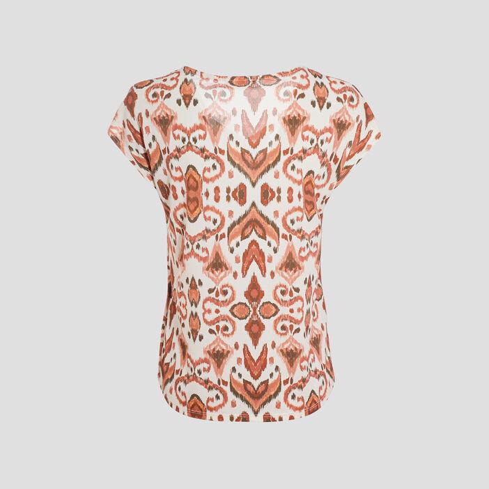 T-shirt manches courtes orange clair femme
