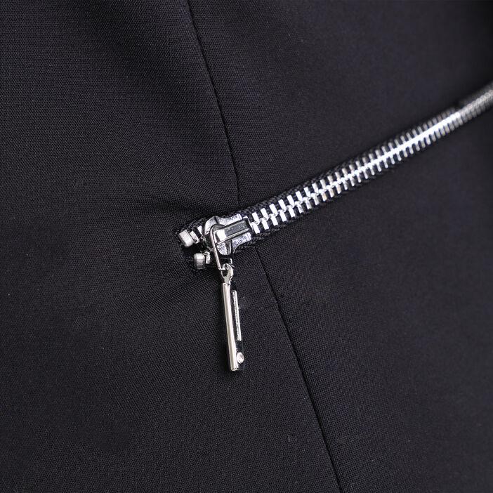 Veste cintrée détails zippés noir femme
