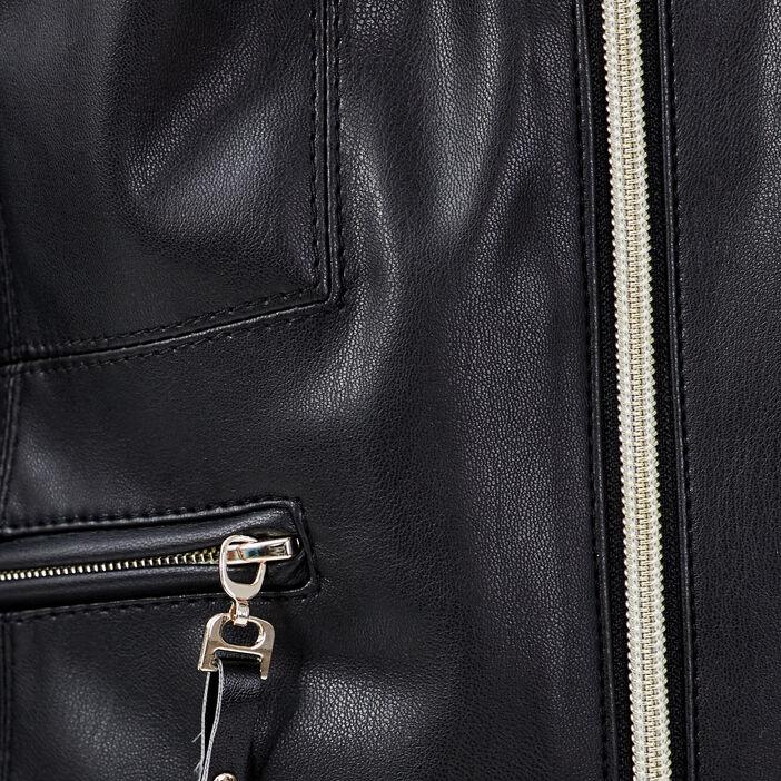 Veste cintrée zippée noir femme