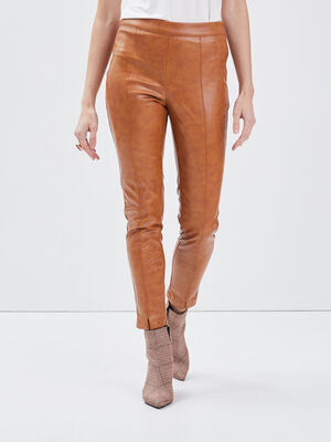 Pantalon tregging rouge fonce femme