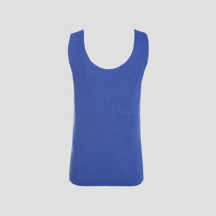 Pull débardeur bleu violet femme