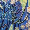 Blouse manches courtes bleu electrique femme
