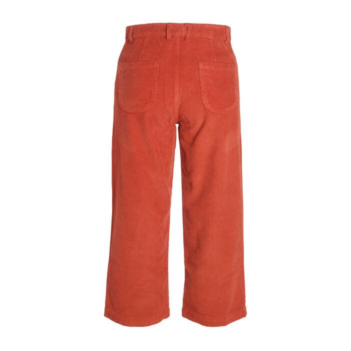 Pantalon jupe-culotte marron foncé femme