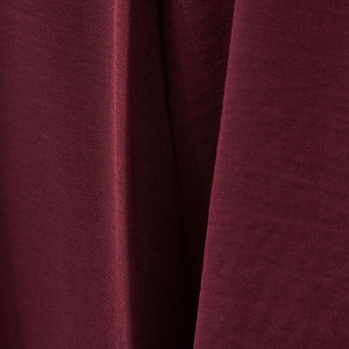Blouse manches 3/4 boutonnées violet foncé femme