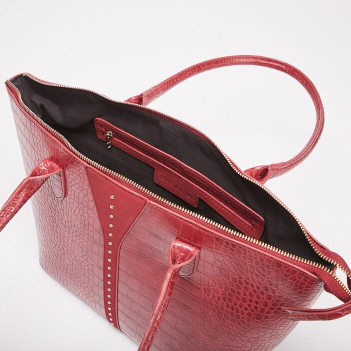 Sac trapèze porté-épaule rouge femme