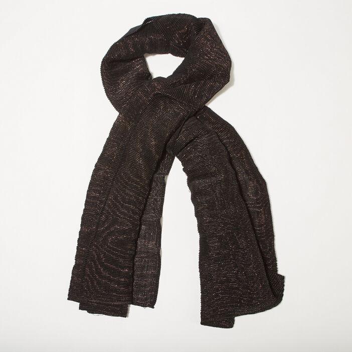Écharpe plissée noir femme