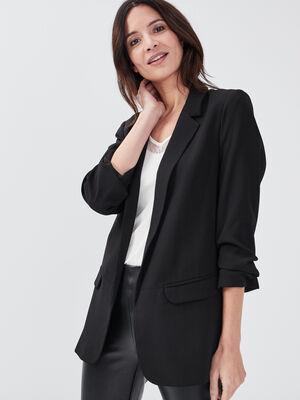 Veste droite noir femme