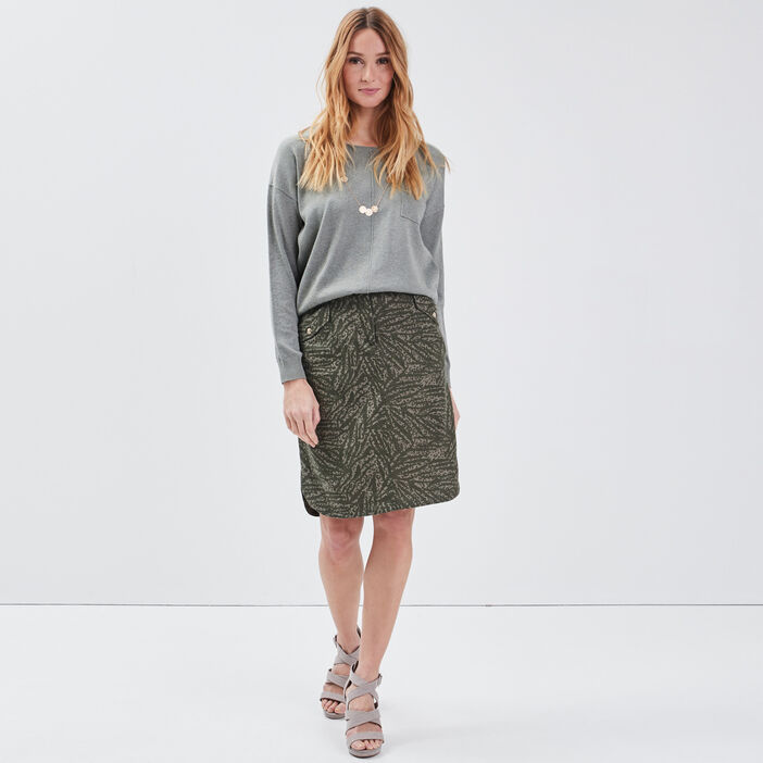 Pull manches longues vert clair femme