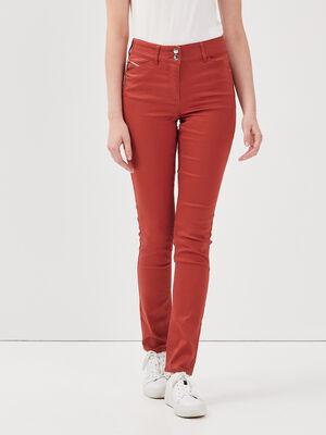 Pantalon ajuste orange fonce femme