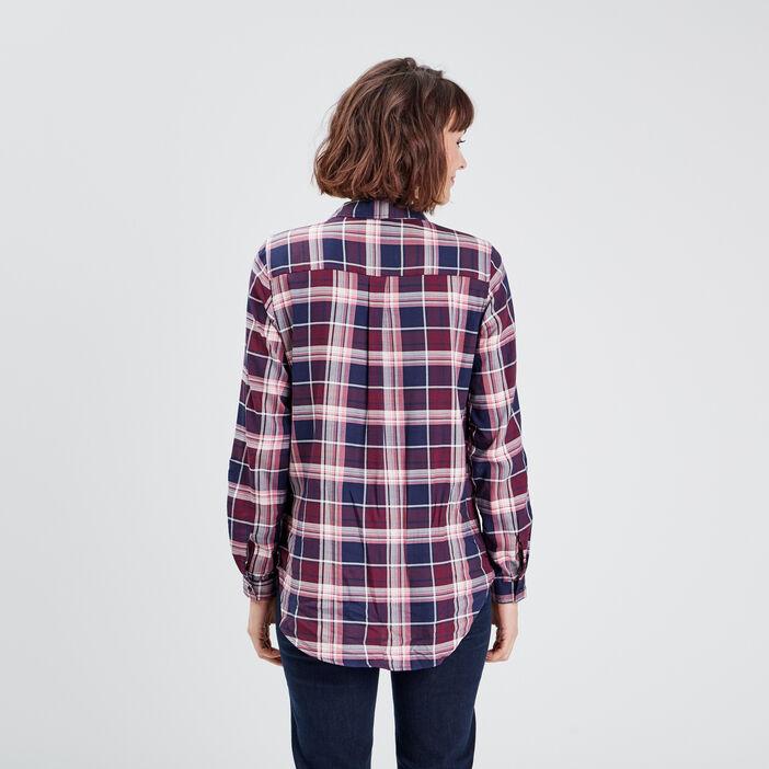 Chemise manches longues bordeaux femme