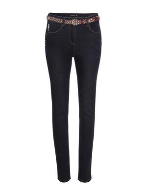 Jeans ajuste taille standard denim dirty femme