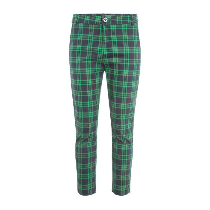 Pantalon ajusté 7/8ème vert menthe femme
