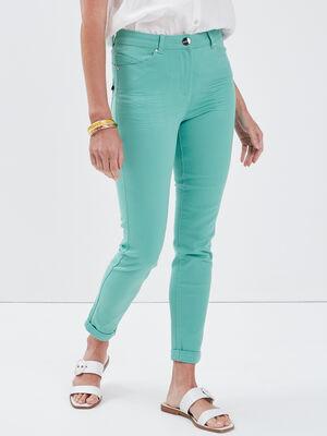 Pantalon ajuste vert menthe femme