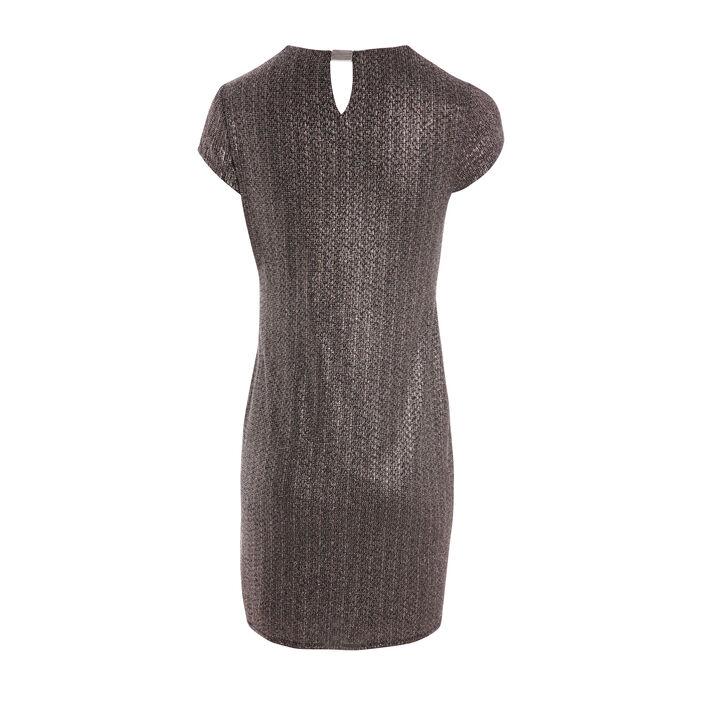 Robe courte façon portefeuille couleur cuivre femme