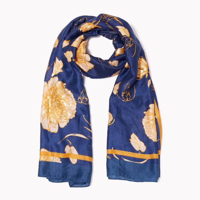 Foulard bleu marine femme