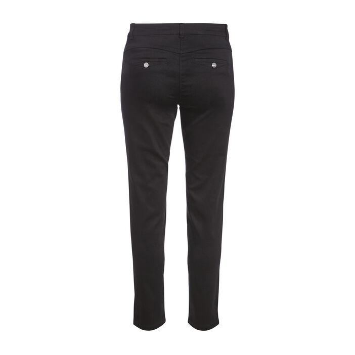Pantalon ajusté bandes côtés noir femme