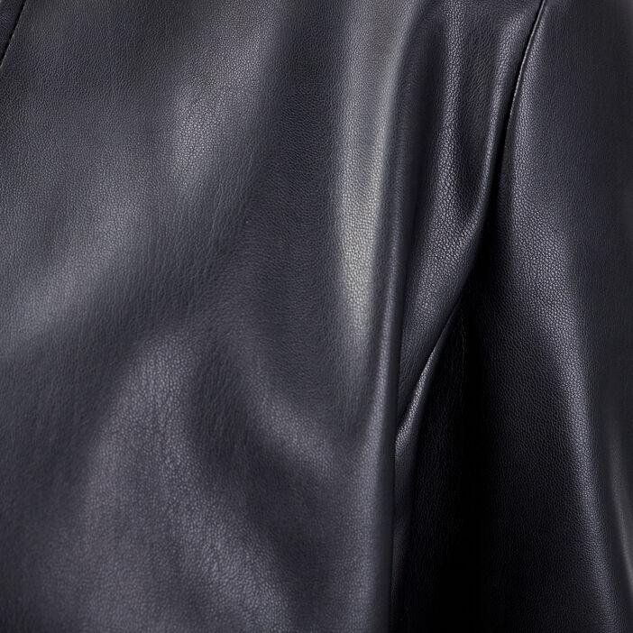 Veste droite avec col en V noir femme