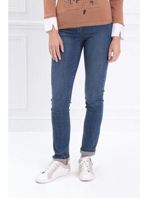 Jeans ajuste taille standard denim stone femme