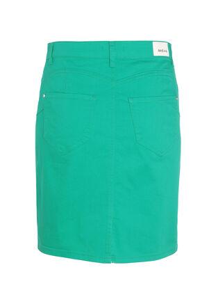 Jupe droite courte vert menthe femme