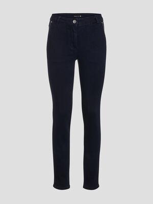 Pantalon ajuste denim brut femme