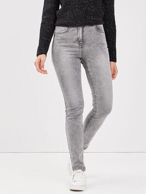 Jeans pres du corps gris femme