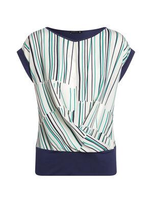 T shirt manches courtes bleu fonce femme