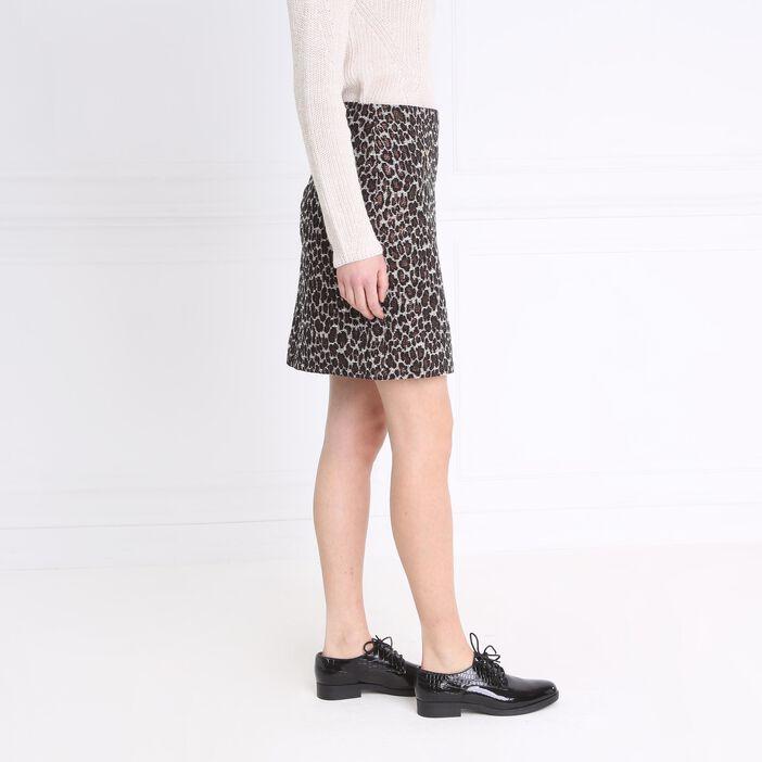 Jupe droite poches zippées noir femme