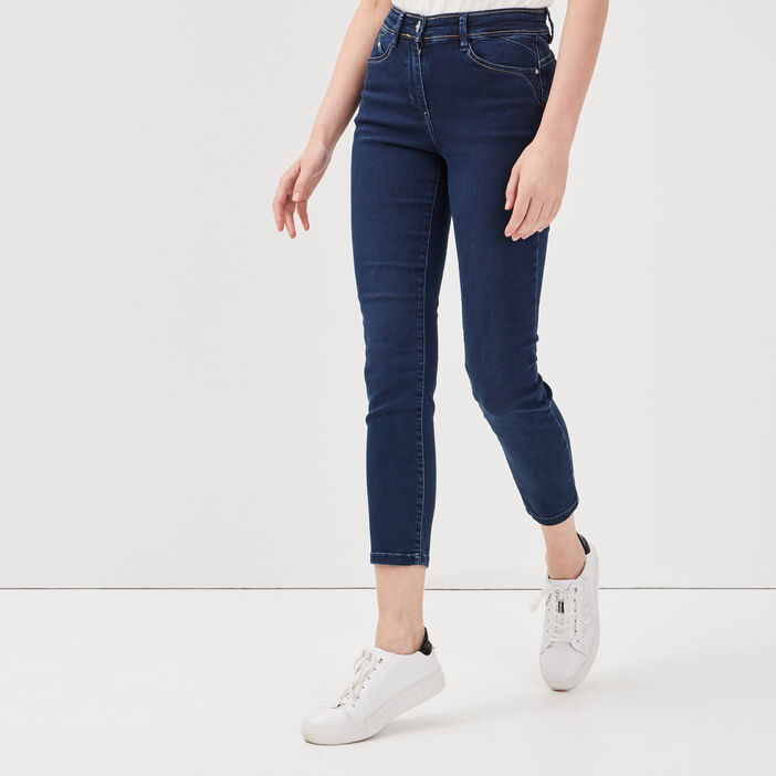 Jeans ajusté taille standard denim stone femme