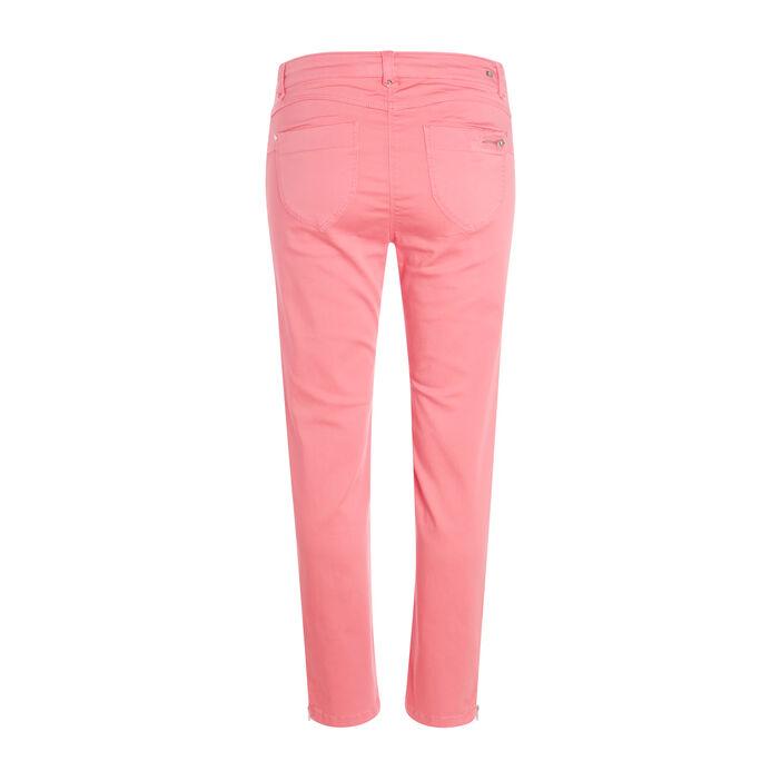 Pantalon satiné rose fushia femme