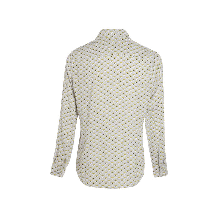 Chemise imprimée boutonnée blanc femme