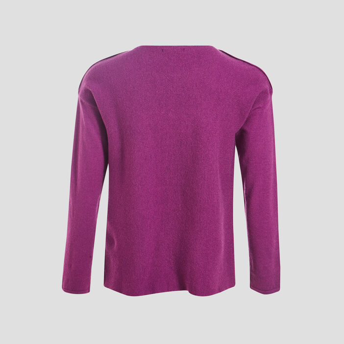 Pull manches longues violet femme