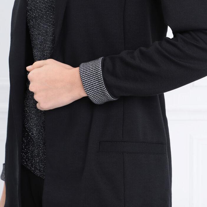 Veste de tailleur droite noir femme