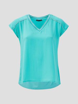 T shirt manches courtes vert menthe femme