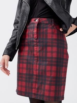 Jupe ajustee avec detail zippe noir femme