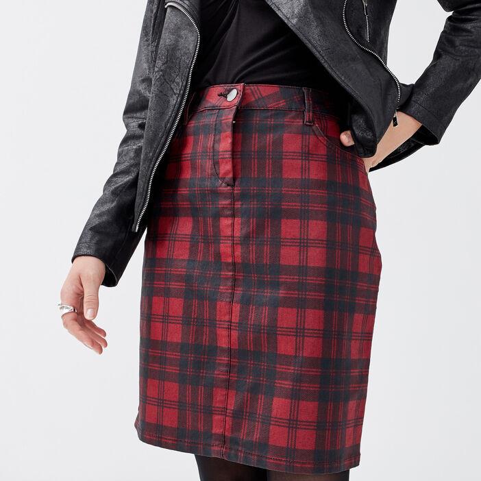 Jupe ajustée avec détail zippé noir femme
