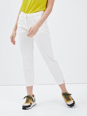 Pantalon bouffant ecru femme
