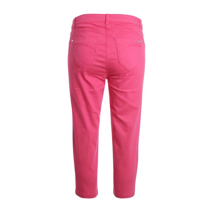 Pantacourt détail zip rose fushia femme