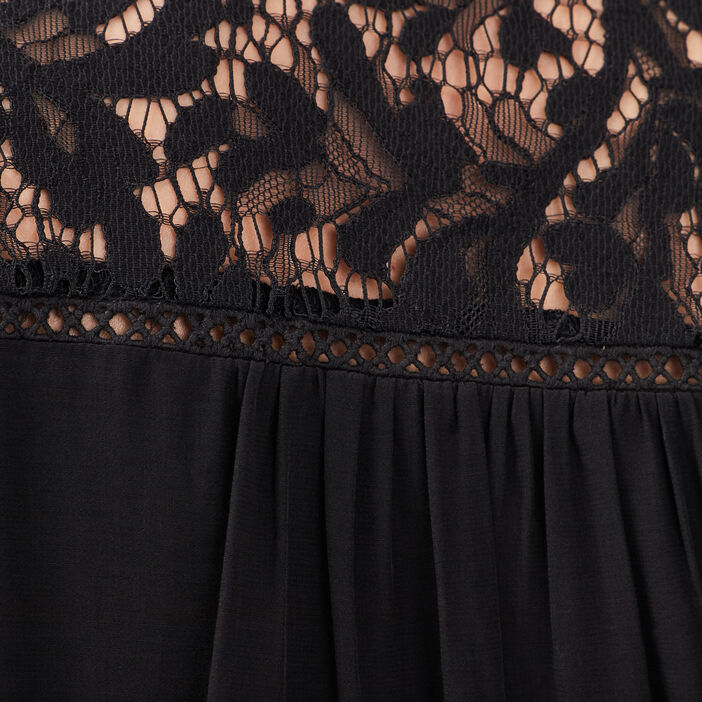 Chemise manches longues noir femme