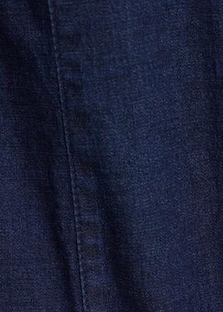 Chemise manches longues denim brut femme