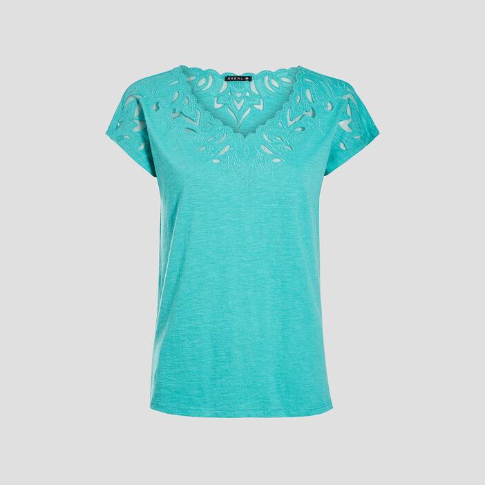 T-shirt manches courtes vert menthe femme