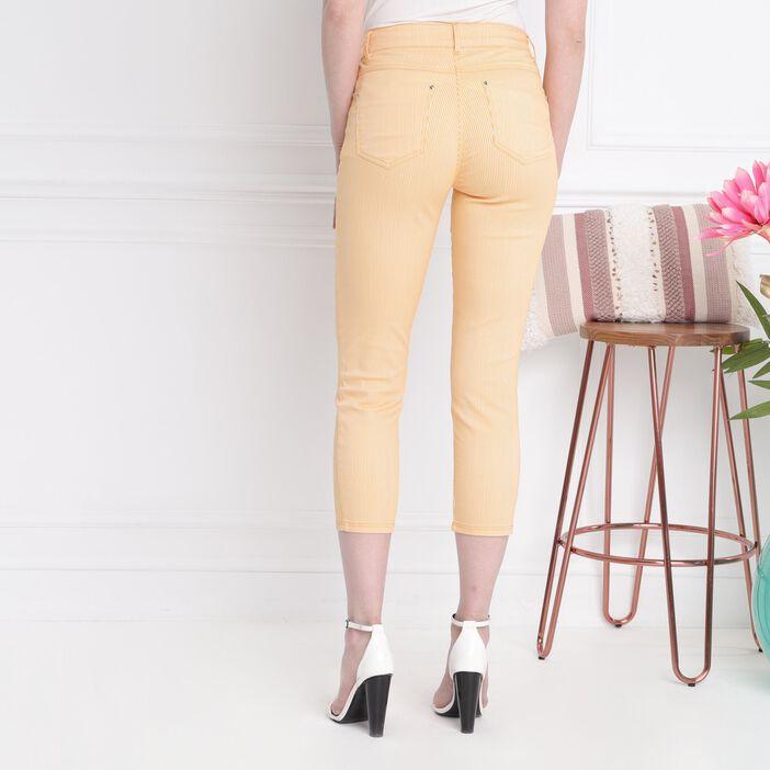 Pantalon taille standard orange clair femme