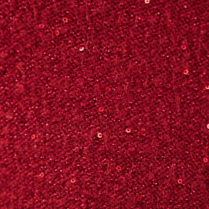 Pull manches longues sequins rouge femme