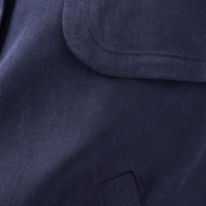 Blouson droit boutonné bleu foncé femme